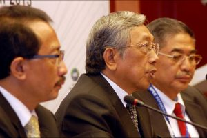 Menteri Negara Riset dan Teknologi, Gusti Muhammad Hatta saat menyampaikan sambutannya dalam sebuah pertemuan Forum APEC PPSTI pada SOM III di Medan, Senin (1/7) kemarin.