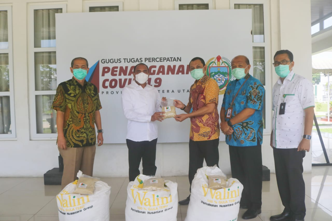 Gubernur Sumut Terima Bantuan 10 Ton Gula Pasir dari PTPN II