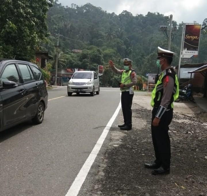 Libur Lebaran, Polisi Lakukan Pengamanan di Jalur Medan-Berastagi