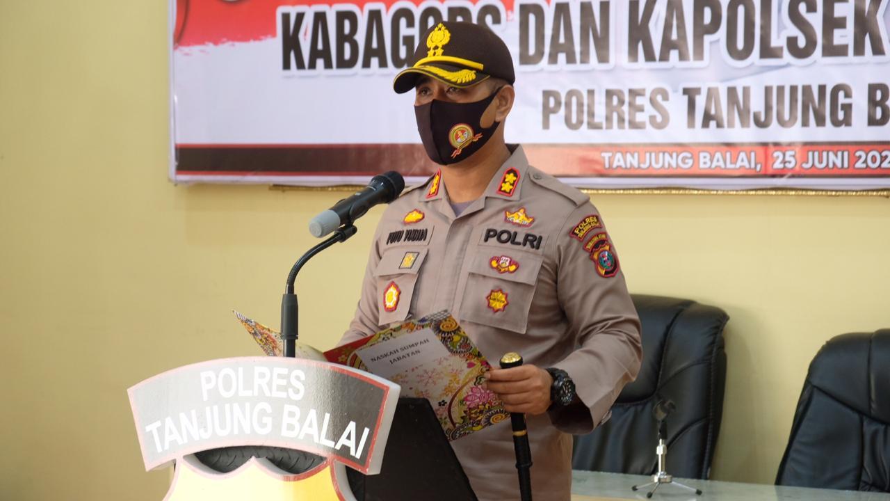 Kapolres Tanjungbalai Pimpin Sertijab Kabag Ops dan Kapolsek Datuk Bandar