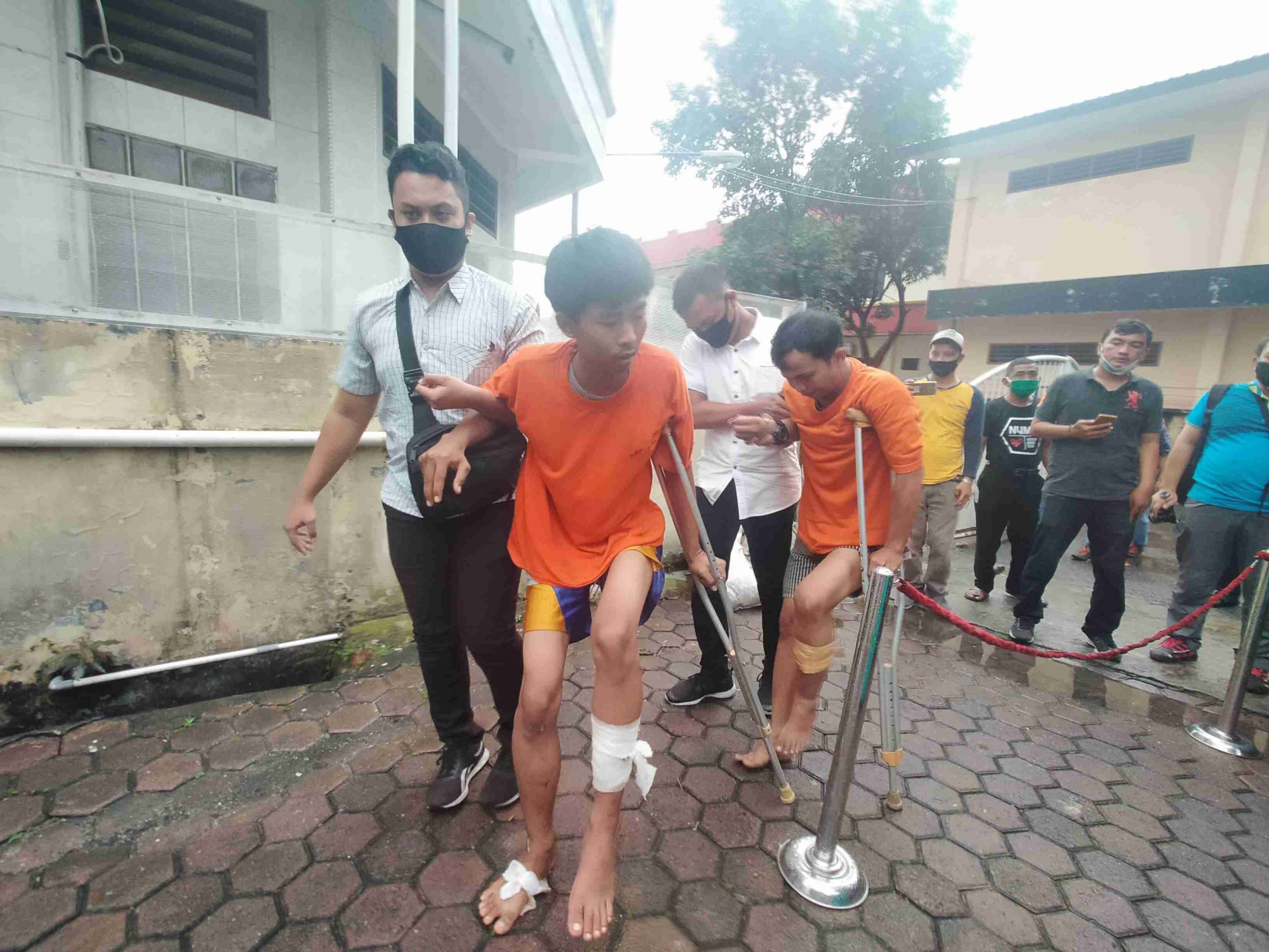 Polrestabes Medan Ringkus 4 Kawanan Jambret, Otak Pelaku Napi Asimilasi Tewas Ditembak