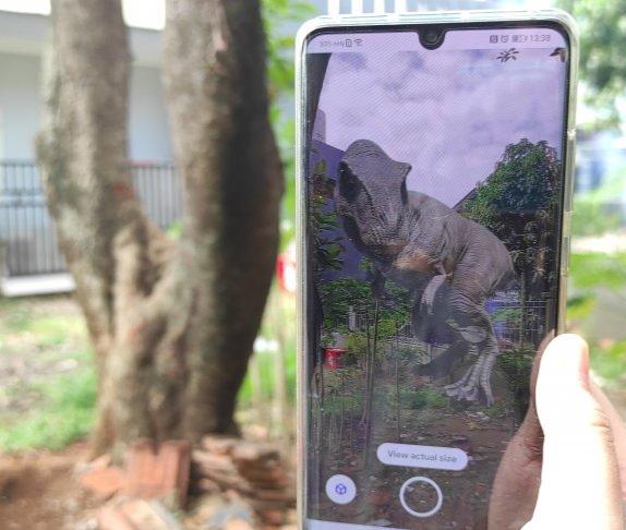 Dinosaurus Bisa Dilihat dari Google, Begini Caranya