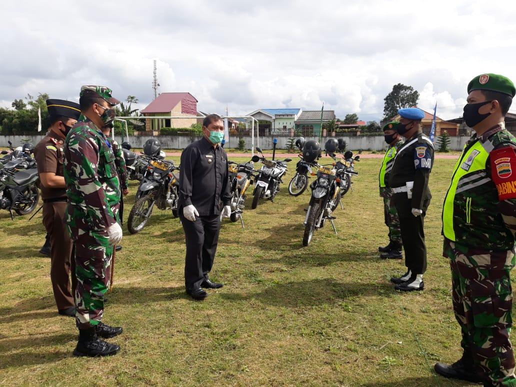 Apel Gelar Pasukan Pemkab Karo, TNI-Polri, Tegakan Disiplin Protokol Kesehatan Covid-19
