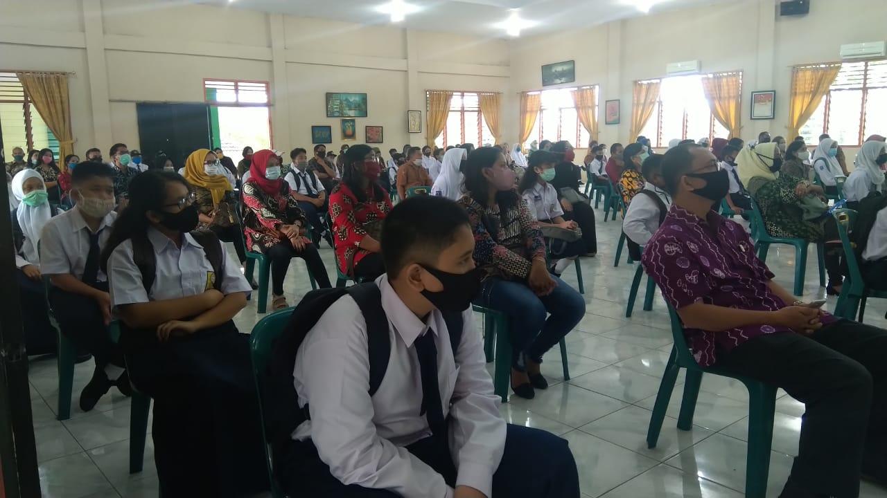 Masuk Mulai 13 Juli, SMP N 1 Medan Gelar Ospek Sesuai Protokol Kesehatan