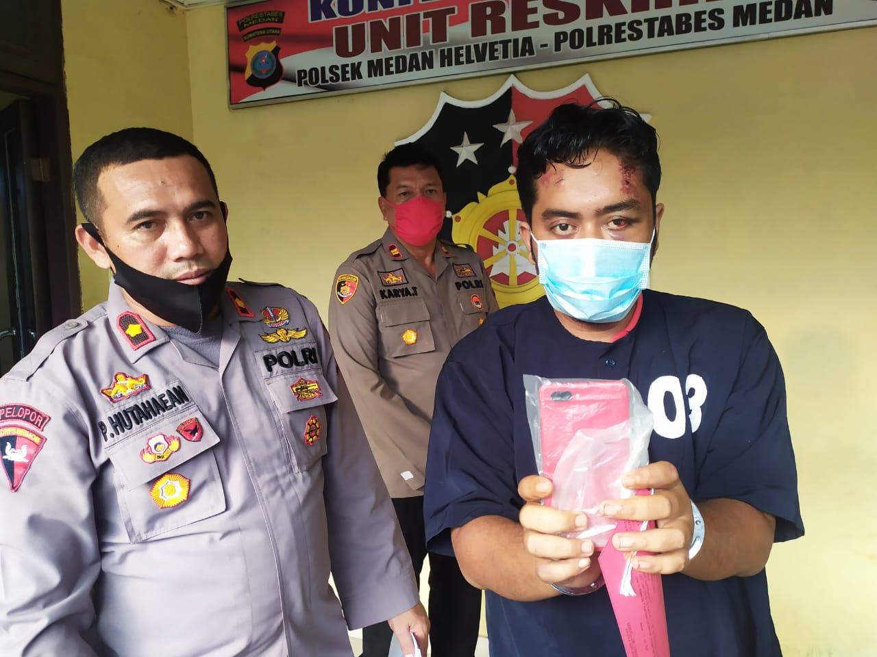 Korbannya Melawan! Penjambret HP di Jalan Kapten Muslim Ini Jatuh Terseret-seret