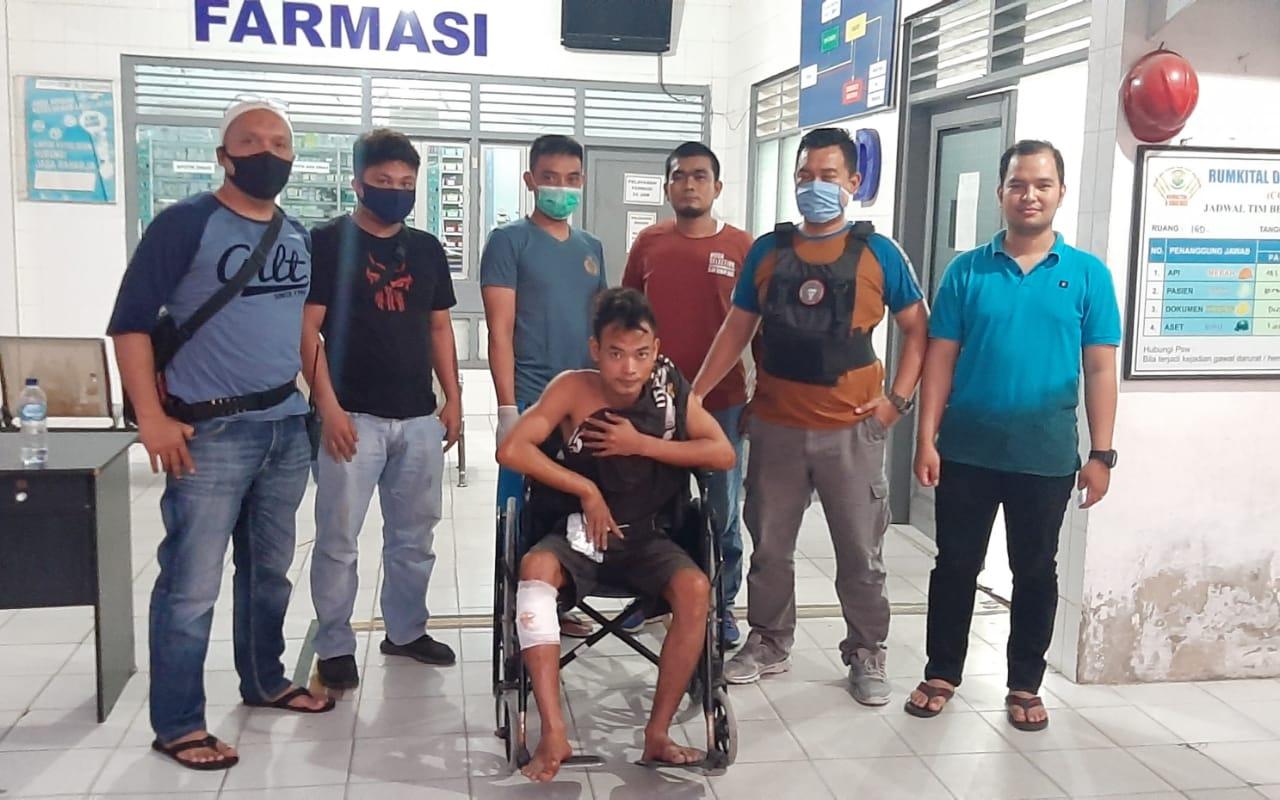Serang Polisi Pakai Kunci T, Curanmor Ini Terduduk Kakinya Jebol Ditembak Polisi di Marelan