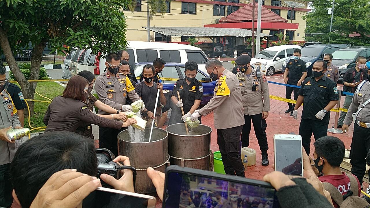 Polda Sumut Musnahkan 51 Kg Sabu, Hasil Tangkapan Maret – Juli 2020