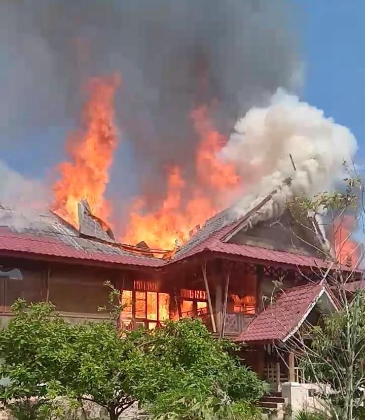 Korslet Listrik Diduga Menjadi Penyebab Kebakaran 1 Rumah di Pesantren Darul Arafah