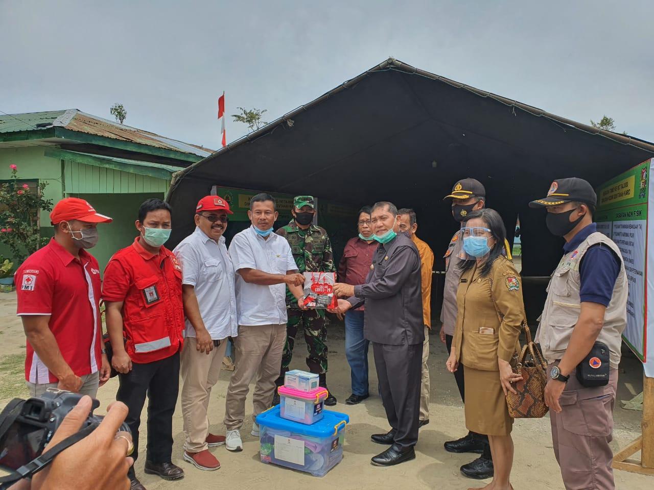 PMI Salurkan Bantuan Kepada Masyarakat Terdampak Erupsi Sinabung