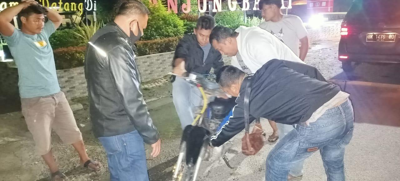 Masih Membandel, Pelaku Balap Liar di Teluk Nibung Dibubarkan Polisi! 10 Sepedamotor Ditilang